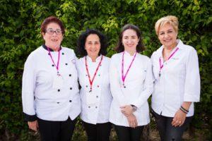 Catalina Riera, Teresa Montesinos, Elena Arzak y Susi Díaz. A.B.