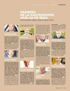 Portada y páginas interiores sobre diferentes aspectos de la gastronomía de la última edición de La Guía de Ibiza y Formentera. Diario de Ibiza