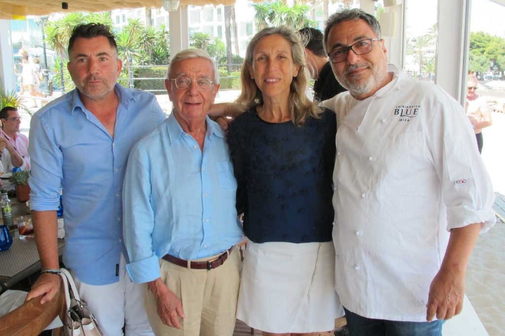 Juanan Martínez, Rafael Ansón, la alcaldesa Carmen Ferrer y el chef israelí Heim Cohen en Blue. Foto: T.S.