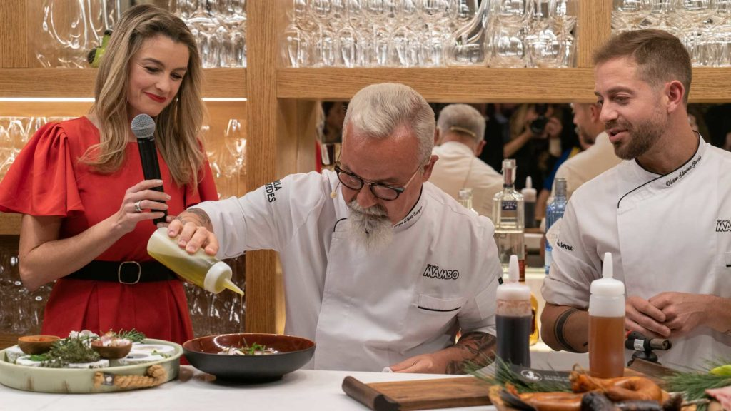 Miguel Ángel López Campoy, chef de Villamercedes y Víctor Sánchez, chef Hostal La Torre