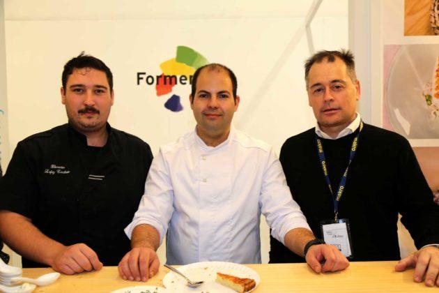 Pedro Aliaga, Florentino Lefay y Pep Mayans del restaurante Can Pascual.